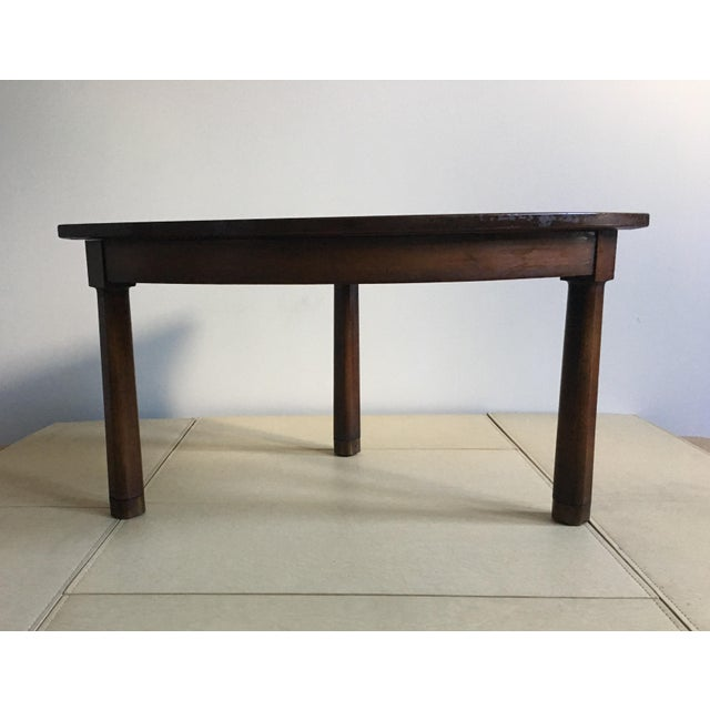Mid Century Corner Table With Reverse Tapered Legs For Sale - Image 10 of 11