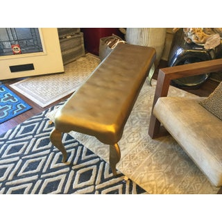 Hammered Gold Finish Contemporary Bench Preview