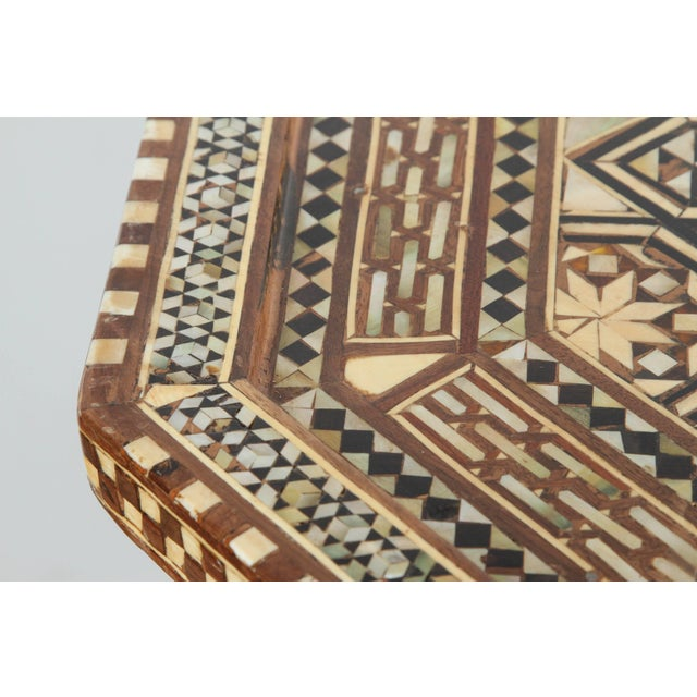 Wood Large Pair of Syrian Octagonal Pedestal Tables For Sale - Image 7 of 9