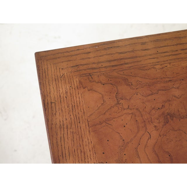 Chippendale 1980s Chippendale Henredon Oak & Walnut End Table For Sale - Image 3 of 8