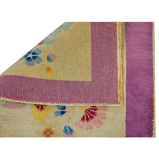 Chinese Art Deco Rug For Sale - Image 9 of 10