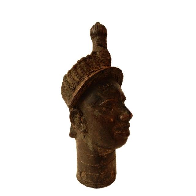 "Benin Royal Bronze Queen Mother Nigeria African 10"" h For Sale - Image 4 of 6"