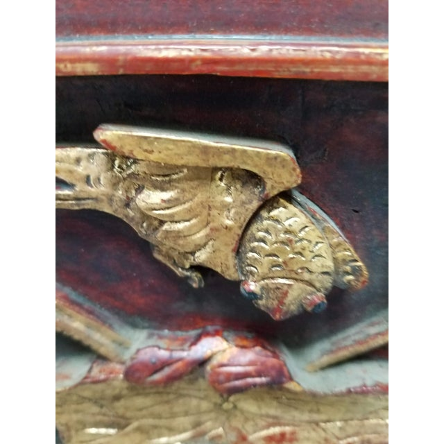 Carved Chinese Architectural Panel Lamp With Shade For Sale In Cincinnati - Image 6 of 11