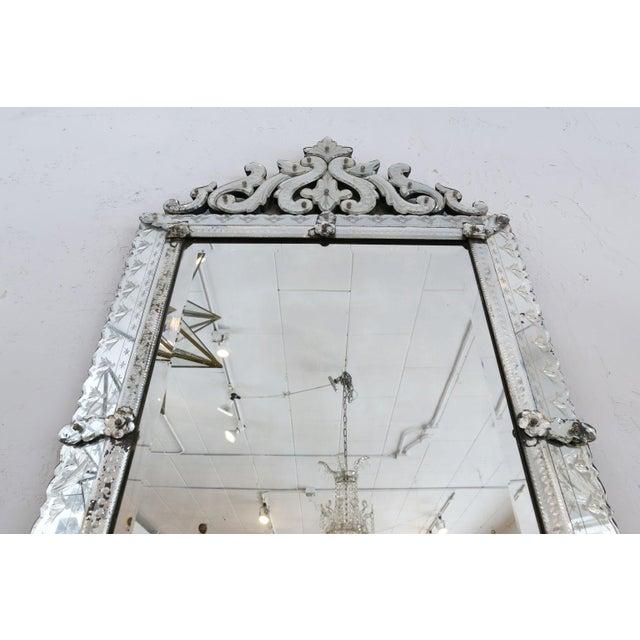 Large Rectangular Venetian Mirror For Sale In Houston - Image 6 of 12