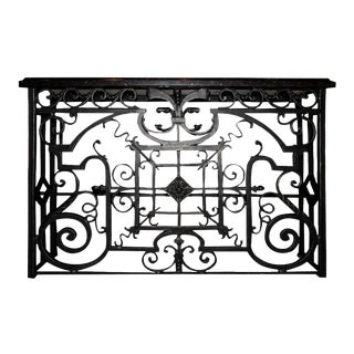 Cast Iron Console For Sale