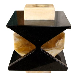 Handmade Granite and Onyx Lamp by Carlos Gaona For Sale