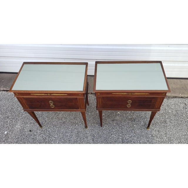 1950's Italian Mid-Century Modern Burled & Matched Paolo Buffa Manner Nightstand or End Table - a Pair For Sale - Image 11 of 12