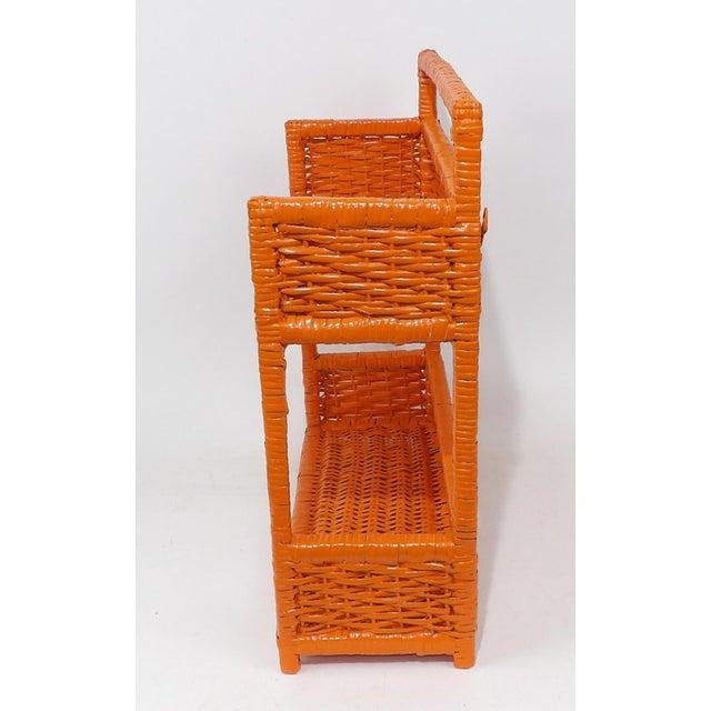 Orange Wicker Wall Shelf - Image 3 of 11