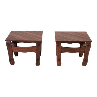 Pair of Descanso Side Tables by Don Shoemaker for Señal in Cueramo Wood For Sale