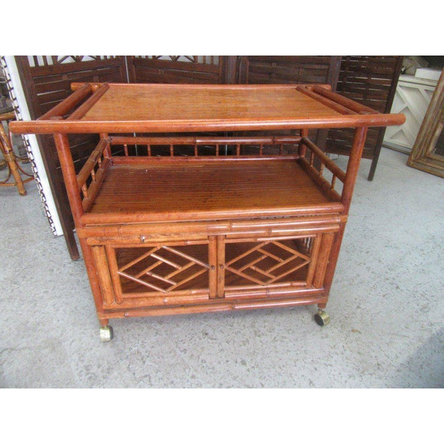 Tortoise Shell Bamboo Cart - Image 2 of 8
