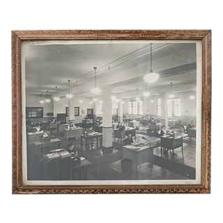 Vintage Print of an Office For Sale