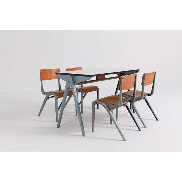 Children's Industrial Writing Desk Table With Chairs for Kids by James Leonard for Esavian For Sale - Image 3 of 13