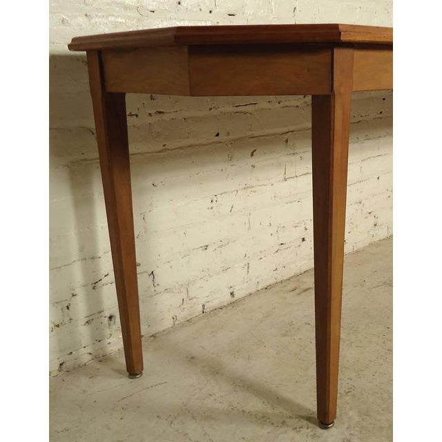 Long Mid-Century Console Table With Inlay Design | Chairish