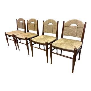 """J.E.Ruhlmann Rare Set of Four Chairs Model """"Rendez-Vous Des Pêcheurs De Truite"""" For Sale"""
