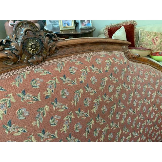 Brown Elegant Settee For Sale - Image 8 of 9