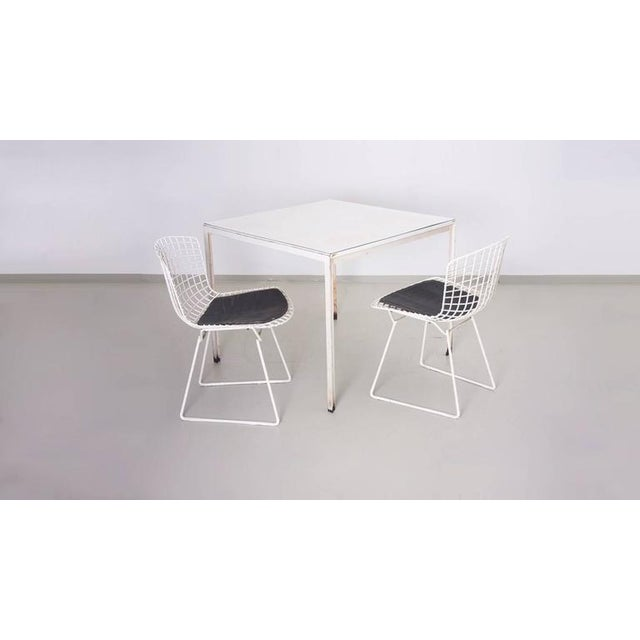 Knoll International Florence Knoll Dining Table Plus Two Bertoia Side Chairs For Sale - Image 4 of 7