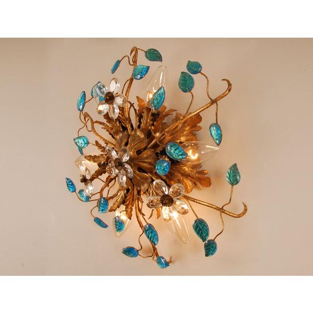 1970s Mid-Century Italian Murano Glass Sunburst Sconces, Venice - a Pair For Sale - Image 9 of 11