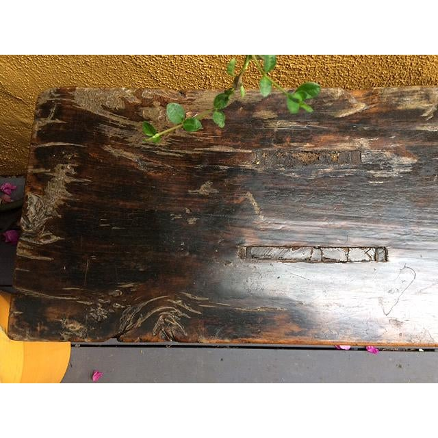 Antique Chinese Wooden Bench For Sale In Los Angeles - Image 6 of 11