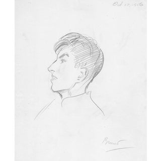 1956 Portrait Drawing by Charles Merrill Mount For Sale