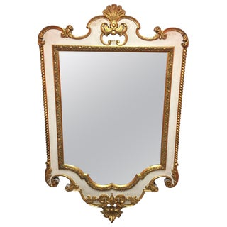 French Gold Leaf and Cream Color Mirror, Circa 1890 For Sale
