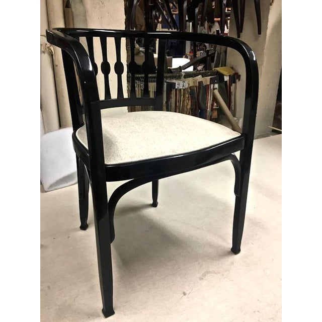 Arts & Crafts Thonet Austrian Secession Set of One Couch and Two Chairs in Bentwood For Sale - Image 3 of 7