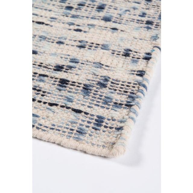 "Erin Gates Dartmouth Bartlett Blue Hand Made Wool Runner 2'3"" X 8' For Sale In Atlanta - Image 6 of 7"