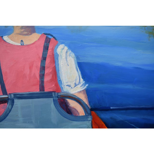 """Paint Stephen Remick """"The Journey"""" Large (32"""" X 80"""") Contemporary Painting For Sale - Image 7 of 13"""