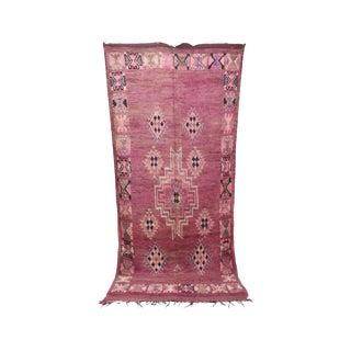 "Boujad Vintage Moroccan Rug - 5'11"" X 12'10"" For Sale"