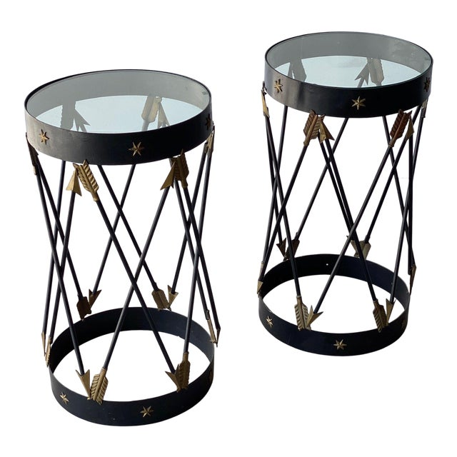 Mid-Century Decorative Side Tables - A Pair For Sale