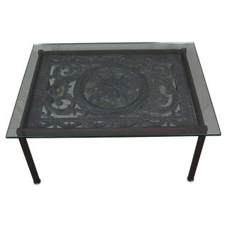19th Century French Cast Iron Coffee Table For Sale