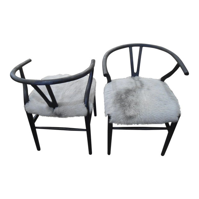 HD Buttercup Nordic Style Chairs - Set of 2 - Image 1 of 4