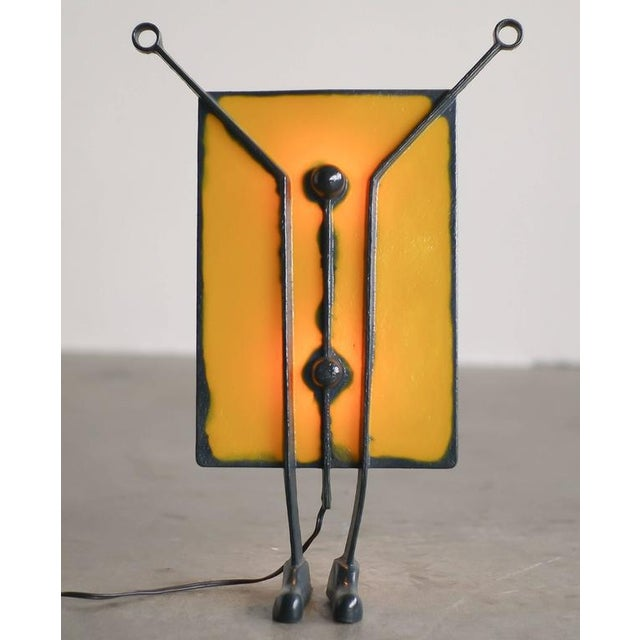 Salvatore lamp by Gaetano Pesce from the Open Sky Collection. The lamp is in the permanent collection of the Museum of Art...