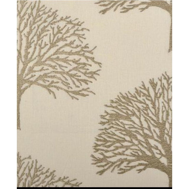 Duralee Linen Tree Embroidery Fabric - 5 Yards - Image 2 of 2