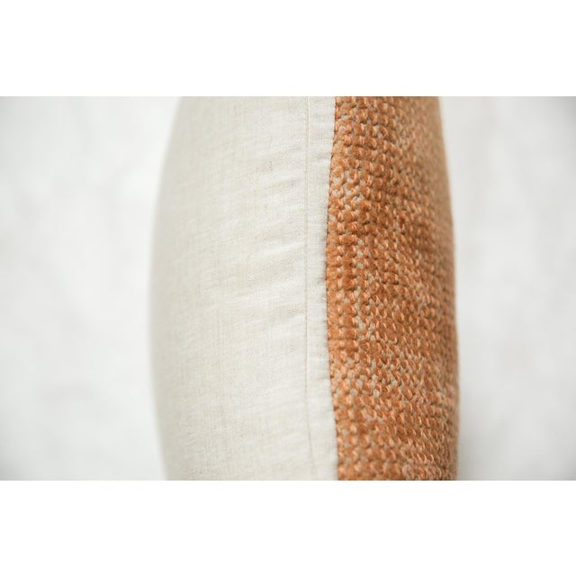 Abstract Vintage Turkish Rug Fragment Throw Pillow For Sale - Image 3 of 6