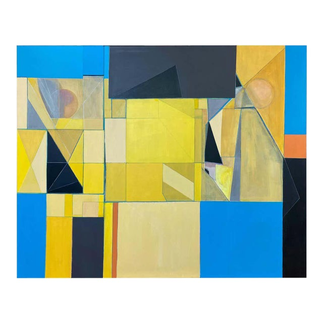 """Robert English """"Etheric Double"""", Large Abstract Cubist Painting, 1994-1995 For Sale"""