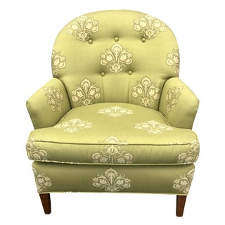 Paisley Upholstered Tufted Club Chair