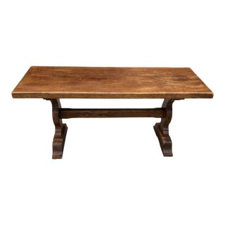1900s French Country Solid Oak Normandy Coffee Table For Sale