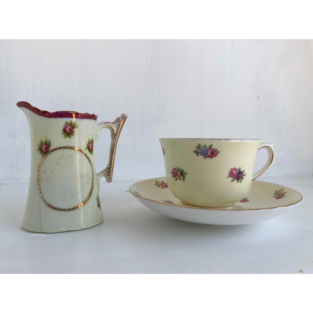 Colclough Creamer, Tea Cup and Saucer Set For Sale - Image 12 of 12