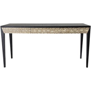 Leather and Snake Skin Console Table by Fabio Ltd For Sale