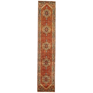 """Traditional Pasargad N Y Fine Serapi Design Hand-Knotted Rug - 2'8"""" X 14'"""