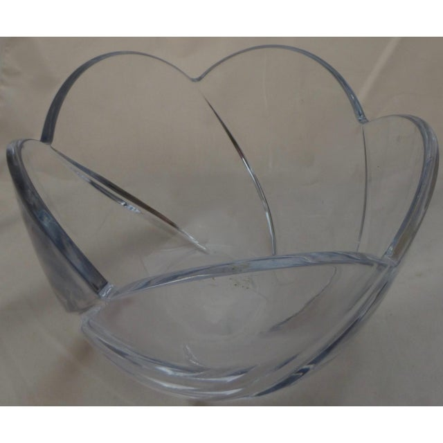 Mid-Century Lead Crystal Organic Glass Bowl For Sale - Image 9 of 10