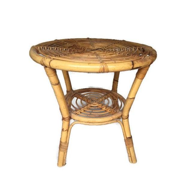 Albini-Style Bentwood Bamboo Side Table - Image 7 of 7