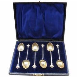 1896 Sterling Silver Crown Teaspoons - S/6 - Image 1 of 5