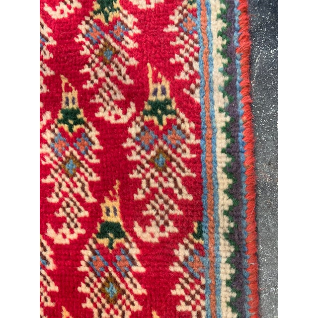 Islamic Persian Hand-Tied Wool Mir Runner Rug - 2″ × 11″ For Sale - Image 3 of 9