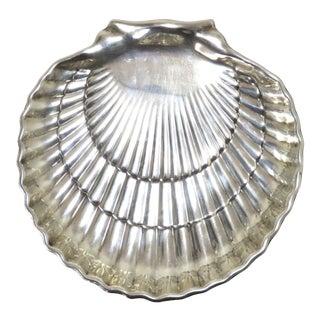 Vintage Gorham Sterling Silver Shell Serving Dish For Sale