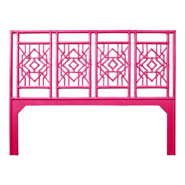 Tulum Headboard King - Bright Pink For Sale