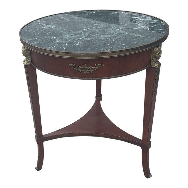 Vintage John Widdicomb Empire Gueridon Table For Sale