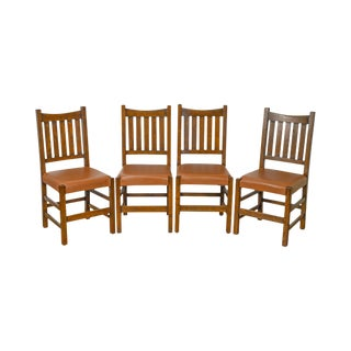Mission Oak Stickley StyleCustom Dining Chairs - Set of 4