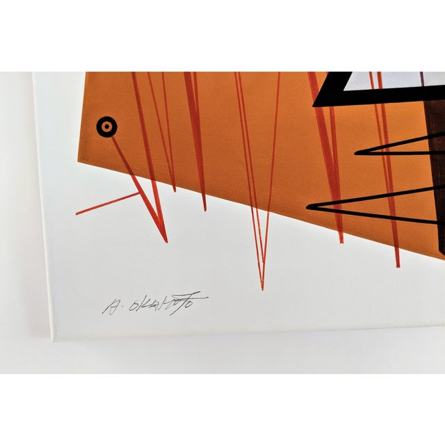 """Atsuko Okamoto Abstract Serigraph A. P. """"Convergence 2"""" Signed For Sale In Miami - Image 6 of 8"""