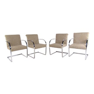Set of Four Vintage Modern Knoll Style Dining Chairs For Sale